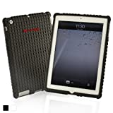 Snugg iPad 3/iPad 4 Case - The Snugg Squared² Skinny Fit Protective Case Cover for Apple iPad 2 / iPad 3 / iPad 4 (Black)