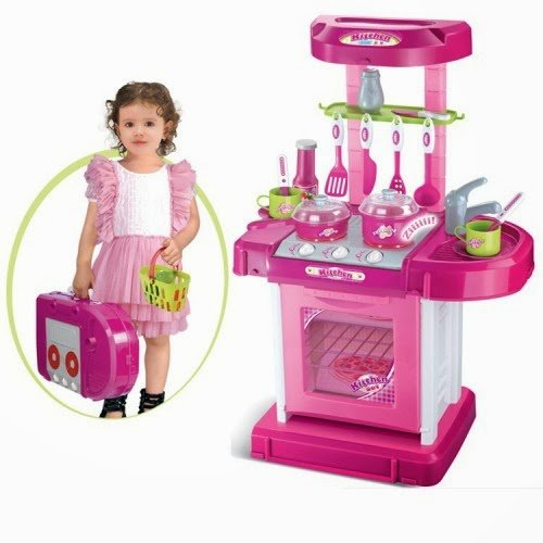 Portable kitchen appliance oven cooking play set 26 w for Kitchen set node attributes