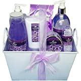 Lavender Healing Spa Bath and Body Gift Basket Set