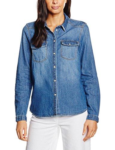 Noisy May Nmcathy Shirt Med Noos, Camicia Donna, Blu (Medium Blue Denim), X-Large (Taglia Produttore: X-Large)