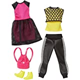 Barbie Fashion 2 Pack Casual - Black, Pink & Yellow