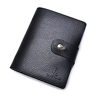 Wonder Wallet - Amazing Slim RFID Wallets As Seen on TV, Black Leather from asc