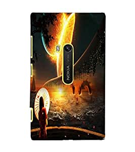 PrintDhaba Abstract Image D-4343 Back Case Cover for NOKIA LUMIA 920 (Multi-Coloured)
