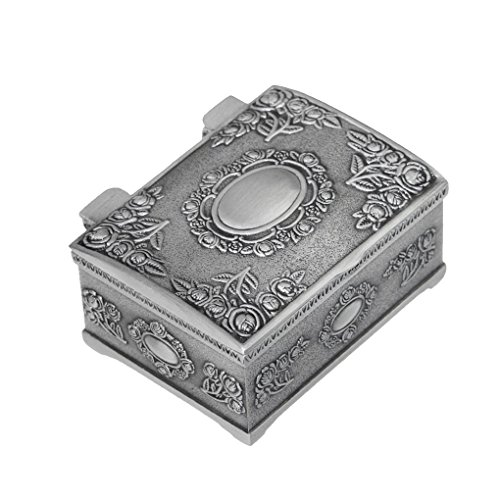 Retro Carving Tin Square Wedding Bride Jewelry Box Storage Organizer Art Antique Case Gift
