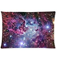 Lijia--Romantic Galaxy Space Personalized Roomy Zippered Pillow Case 20x30 (Two Sides) by Lijia