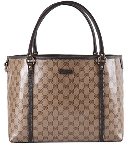 Gucci Women's Crystal Canvas Guccissima GG Joy Purse Handbag Tote