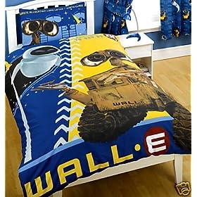 Wall E Disney Pixar Blue Single Duvet GLOW IN THE DARK