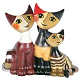 Rosina Wachtmeister Porcelain Miniature Cats Figurine - Happy Family