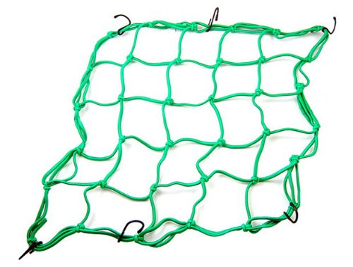 Universal Motorcycle Parts Green ATV Helmet Web Bungee Mesh Cargo Packing Net For Ducati MTS1100/S 2007 2008 2009