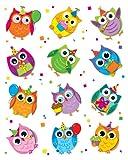 Carson Dellosa Celebrate with Colorful Owls Shape Stickers