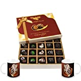 Chocholik Belgium Chocolates - Beautiful 20 Pc Mix Assorted Chocolate Box With Diwali Special Coffee Mugs - Diwali...