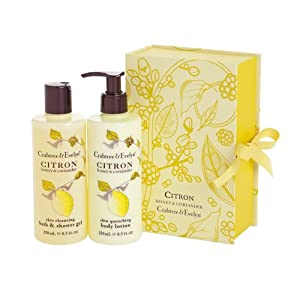 Crabtree and Evelyn Citron Honey and Coriander Shower Gel and Lotion Duo