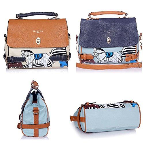 Beige Fashion Women Pu Leather Purse Arrival Horse Pattern Handbag Shoulder Bag front-560733