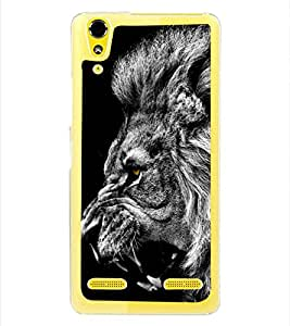 Lion 2D Hard Polycarbonate Designer Back Case Cover for Lenovo A6000 Plus :: Lenovo A6000+ :: Lenovo A6000