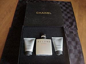 Chanel Allure Homme Sport Luxury Gift Set for Men - EDT Spray 3.4 Oz. + Hair and Body Wash 1.7 Oz. + After Shave Balm/ Moisturizer 1.7 Oz. in Gift Box