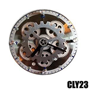 Splendido Orologio da Tavolo e da Muro con Ingranaggi a Vista DynaSun CLY23