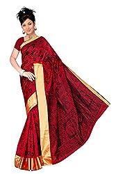 Monika Fashion Women's Cotton and Silk Saree - mf06_Red