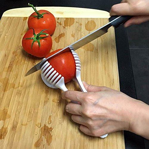 Emson® Multi-Functional Handheld Round Fruit Slicer Kiwi Tomato Mushrooms Slicers Salad Slicer Fruit Vegetable Slicer Kitchen Tool in White (Fruit And Vegetable Slicer compare prices)