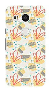 Koveru Designer Printed Protective Snap-On Durable Plastic Back Shell Case Cover for Google/LG Nexus 5X - Brushes Pattern