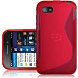 CNL RED GEL S LINE SLIM COVER CASE SKIN FOR THE BLACKBERRY Q5 MOBILE PHONE