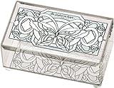 Joan Baker Designs BAB2017 Butterfly in Whites Art Blass Box, 5.75 by 3.5 by 2.75-Inch