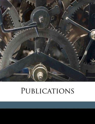 Publication, Volume 3
