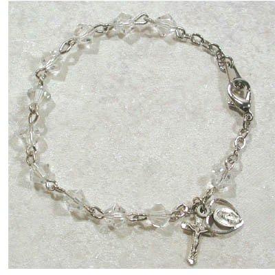 Deluxe 6mm Womens Rosary Bracelet Australian Crystal.
