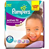 Pampers Active Fit Size 5+ (Junior +) Large Pack - 45 Nappies