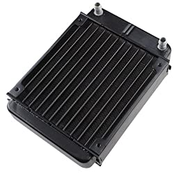 AGPtek 12 Pipe Aluminum Heat Exchanger Radiator for PC CPU CO2 Laser Water Cool System Computer