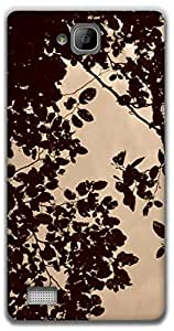 The Racoon Grip leafy hard plastic printed back case / cover for Huawei Honor 3C