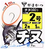 がまかつ(Gamakatsu) 糸付 チヌ(白) 1M 2-2