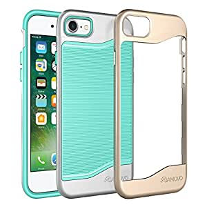 """AMOVO iPhone 7 Case [Double-Layered Structure] [2 Interchangeable Bumpers] Hybrid Drop Protection for iPhone 7 (iPhone7 4.7"""" (Mint))"""
