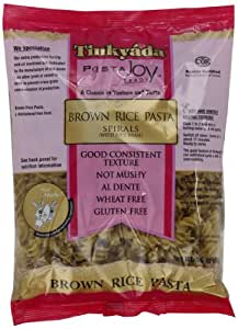 Tinkyada Brown Rice Spirals with Rice Bran,  Gluten Free, 16-Ounce Packages (Pack of 12)