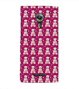 EPICCASE lovely bear Mobile Back Case Cover For Alcatel One Touch Flash 2 (Designer Case)