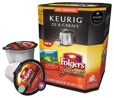Keurig 114692 Folgers Lively Colombian Coffee K-Cup Carafe, 8 Count (Keurig Carafe Kcups compare prices)