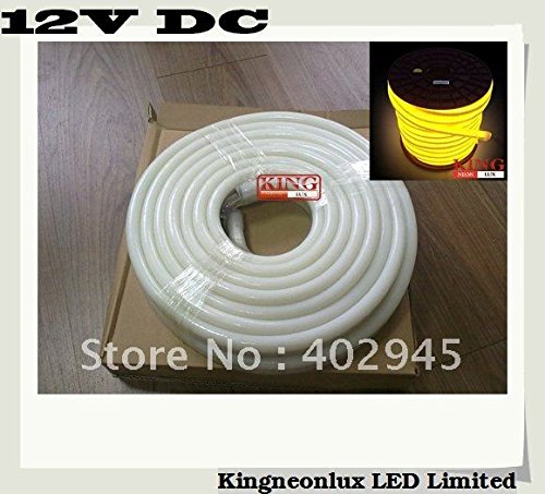 10M Per Roll Led Neon Flex Yellow 12V Dc Led Soft Neon Light Led Neon Rope Light 80Pcs/M Dhl Express