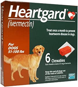 Heartgard Chewables Canine (Brown) - 51-100 lbs - 6 count