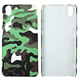 Heartly Army Style Retro Color Armor Hybrid Hard Bumper Back Case Cover For HTC Desire Eye - Army Green