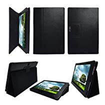 Poetic(TM) Leather Case Cover With Stand for ASUS Eee Pad Transformer Prime TF201 Black
