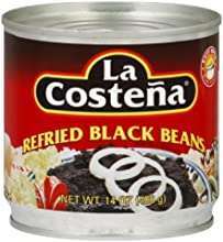La Costena Refried Black Beans 141-Ounce Pack of 12