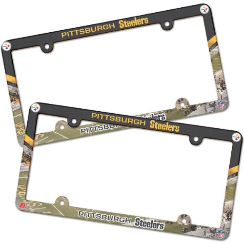 Pittsburgh Steelers NFL License Plate Frame (2 Pack) from Wincraft