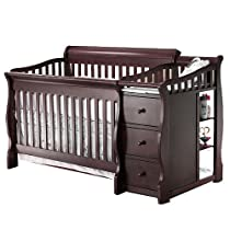 Hot Sale Sorelle Princeton 4-in-1 Convertible Crib & Changer - Espresso