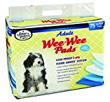 Four Paws Wee-Wee Adult Dog House Breaking Pads, 75 Pack