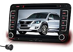 See Pumpkin 7 Inch 2 Din HD Touch Screen Car DVD Player GPS Navigation Stereo support GPS/SD/USB/3G/DVR/AV-IN/Bluetooth with Free Rear View Camera as Gift Details
