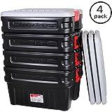 Rubbermaid 1172 ActionPacker Storage Box, 24 Gallon 4 Pack
