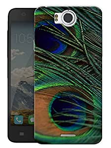 "Peacock Feather - Mor Pankh Printed Designer Mobile Back Cover For ""Google Infocus M530"" By Humor Gang (3D, Matte Finish, Premium Quality, Protective Snap On Slim Hard Phone Case, Multi Color)"