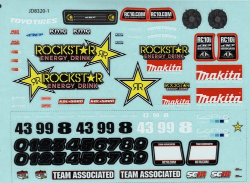Team Associated 21363 SC18 Rockstar-Makita Decals
