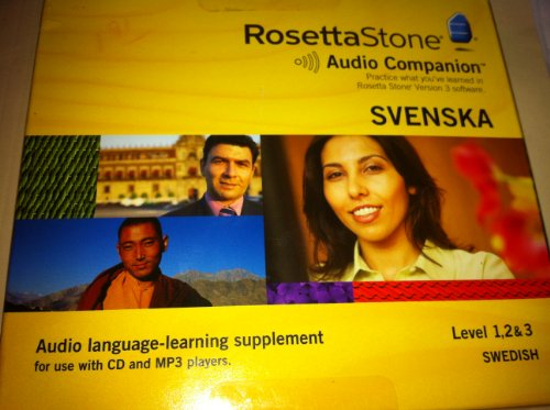 Rosetta Stone Audio Companion Svenska Level 1,2,& 3 Cd/Mp3