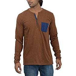 Inego Men's Casual Round Neck T- Shirt (980-Steel )