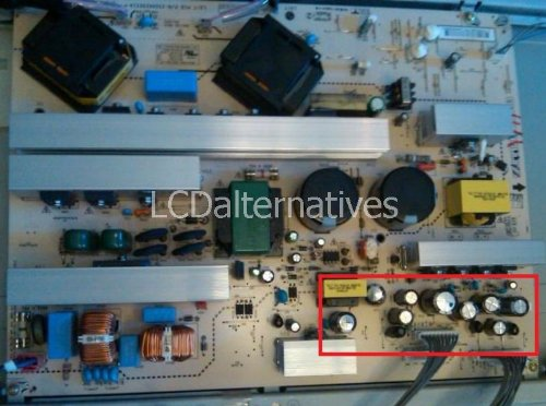 Repair Kit, LG 47LC7DF, LCD Monitor, Capacitors